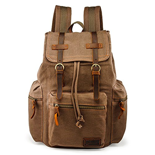 Our #1 Pick is the Gearonic 21L Vintage Canvas Backpack