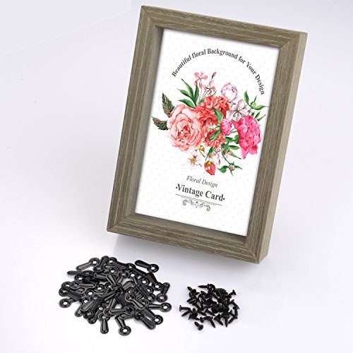 Shappy 100 Pieces Frame Picture Turn Button and 100 Pieces Screws for Hanging Pictures, Black
