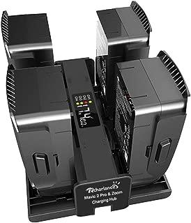 Mavic 2 Battery Charger,Rcharlance 4 in 1 Rapid Battery Charging Hub Intelligent Fast Charging with Digital Charging Indicator Display DJI Mavic 2 Accessories Compatible DJI Mavic 2 Pro Mavic 2 Zoom