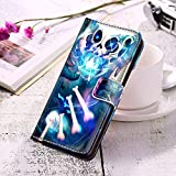 Samsung Galaxy S10+, Samsung Galaxy S10 Plus PU Leather Wallet Case Undertale Wallet flip with Card/Cash Slots Magnetic Clip Wrist Strap Luxury