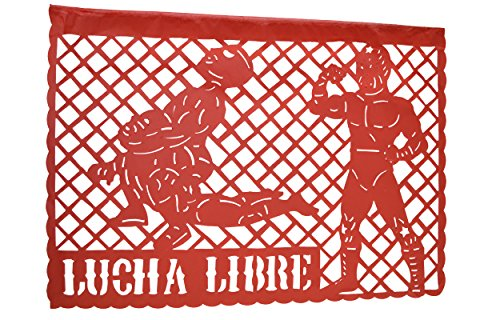 Grahmart WWE-Lucha Libre Happy Birthday Jumbo Letter Banner Decoration (1 Piece), 33 feet, Multicolor Papel picado