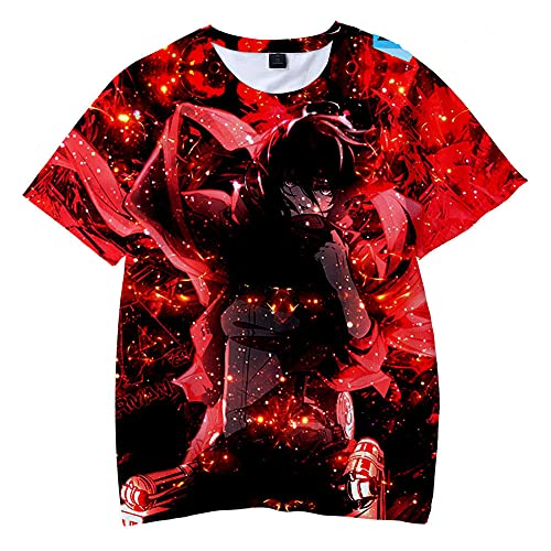 Anime Attack Gigante Ocio Imprimir 3D Camiseta, Camiseta de Manga Corta T-Shirt-7_100 cm