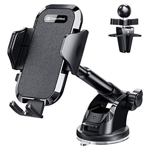 DesertWest Handyhalterung Auto Lüftung & Saugnapf [Upgrade 4.0] Halterung 4 in 1 Universale KFZ Handyhalterung Handyhalter fürs Auto Smartphone Halterung für iPhone/Samsung/Huawei/Xiaomi/LG usw.