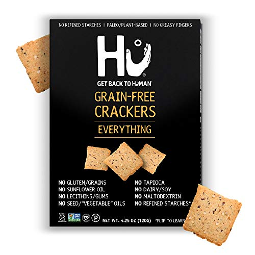 Hu Paleo Vegan Crackers | Everything 2 Pack | Keto Friendly, Gluten Free, Grain Free, Low Carb, No Added Oils, No Refined Starches