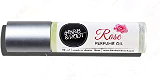 Traditional English Rose Perfume Oil Rollerball (Roll On) | Single Note Fragrance | Herb & Root