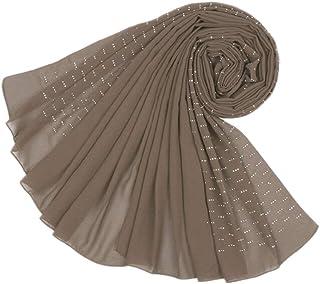 MoreChioce Musulmano Donna Hijab Sciarpa,Moda Wrap Cap Headwear Soft con Strass Diamante Full Cover Copricapo Turbante Che...