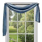 Achim Home Furnishings Ombre Window Curtain Scarf, 50' x 144', Blue