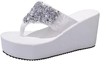 Women's Summer Beach Casual Thong Shoes Platform Sandals Flip Flops