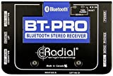 Bluetooth reception to 12 meters (40 feet!) Dual balanced XLR outputs to connect to PA system Built-in headphone amp for troubleshooting Isolation transformers to eliminate buzz and hum The BT-Pro is a Bluetooth direct box designed to capture the wir...