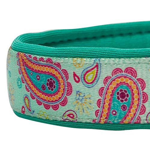 Blueberry Pet 1,5cm S Paisley-Druck Inspiriertes Ultimatives Hell-Smaragdgrün Neopren-Gepolsterte Hundehalsband, Kleine Halsb?nder für Hunde - 5