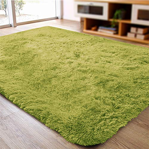 ACTCUT Ultra Soft Indoor Modern Area Rugs Fluffy Living Room Carpets for Children Bedroom Home Decor Nursery Rug 2' x 3', Green