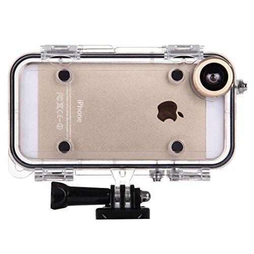 FATEGGS Accesorios para teléfonos móviles para iPhone 5 y 5S & SE Funda Impermeable Deportiva Extrema con Lente de Gran Angular de 170 Grados, Compatible con Accesorios GOPRO Casos Cubre