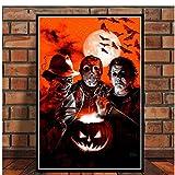 Impresiones de carteles Jason Voorhees Freddy Krueger Horror Movie Art Canvas Painting Cuadros de...