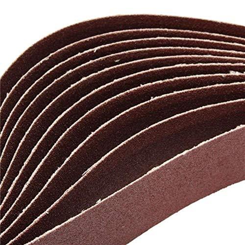 IREANJ Abrasivo de Afiladoras de Herramientas 10pcs 106x5cm Alúmina Bandas de Lijado 80 Tiras de Papel de Lija de óxido de Auto Afilado abrasivos