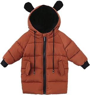 Glaiidy Chaqueta para niños Moda Abrigo de Invierno Lindo niños Abrigo de bebé Chaqueta de Invierno para niñas Orejas de O...