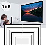 Projector Screen PullDown Projector Screen Portable with 16:9 HD 4K Screen for School Home Theatre Cinema Foldable Projector Screen (60 inch)