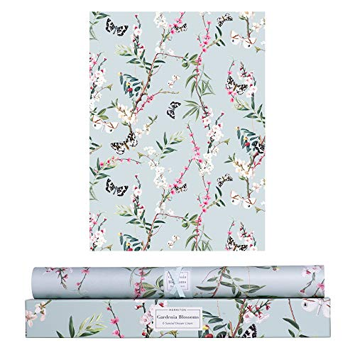 MERRITON Scented Drawer Liners, Royal Fresh Scent Paper Liners for Cabinet Drawers, Dresser Shelf, Linen Closet, Perfect for Kitchen, Bathroom, Vanity (6 Sheets) (Gardenia Blossoms)