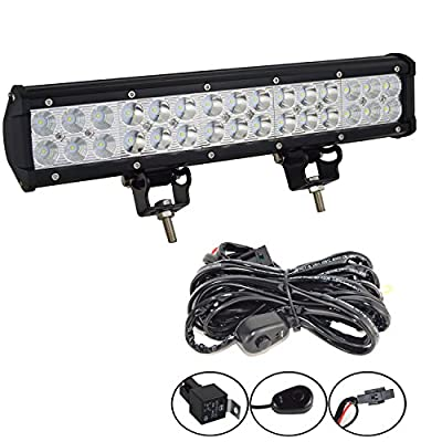"Willpower 4""inch 48W Flood LED Work Light Bar for Truck Car ATV SUV 4X4 Jeep Truck Boat Driving Lamp"