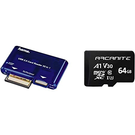 Hama Card Reader Usb 2 0 35 In 1 Blue Arcanite 64 Gb Computers Accessories
