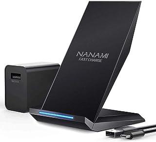 「USB充電器セット」NANAMI ワイヤレス充電器 Qi(チー)/PSE認証 最大15W出力 置くだけ充電 USB Type-C端子 iPhone 12/12Pro/SE2 /11 / 11 Pro / XS / XS Max / XR / ...