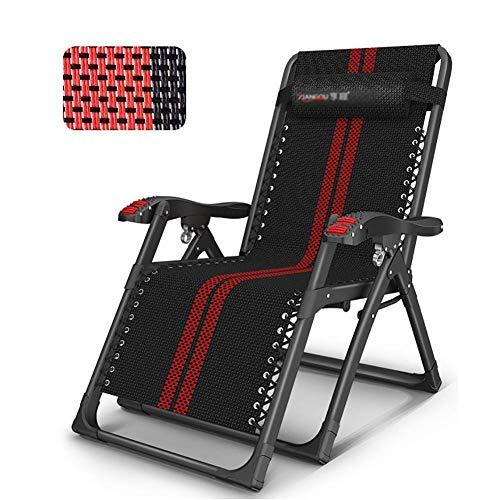 WFFF Lawn Zero Gravity Lounge Chair Patio, Plegable Ajustable reclinable con portavasos para Porche de Patio al Aire Libre
