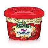 Chef Boyardee Mini Spaghetti Rings & Meatballs, 7.5 Oz. Microwavable Bowls (Pack of 12)