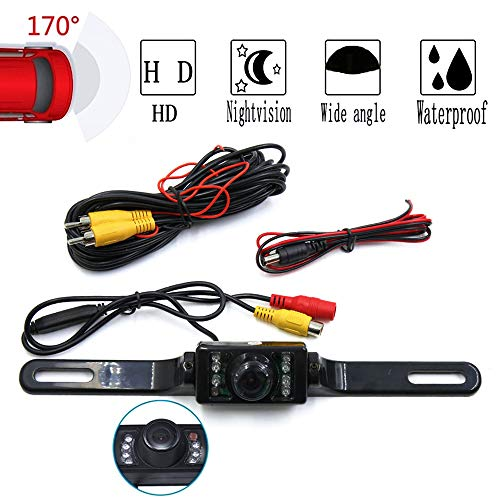 CARBONLAND Car Backup-Camera 170° Night Vision IP67 also for Truck Bus RV(Black) backup Cameras Vehicle