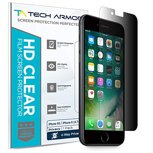 Tech Armor 4Way 360 Degree Privacy Film Screen Protector for Apple iPhone 6S / iPhone 6 (4.7-inch)...