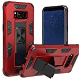 Samsung Galaxy S8 Case | Military-Grade Protection | 12ft. Drop Tested Protective Case | Kickstand | Magnetic Car Mount Holder | Compatible with Galaxy S8 - Red