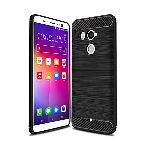 NALIA Funda Carbono Compatible con HTC U11 Plus, Protectora Movil Carcasa Cobertura Silicona Ultra-Fina Gel Bumper Estuche, Ligera Goma Telefono Cubierta Delgado Cover Smart-Phone Case - Negro