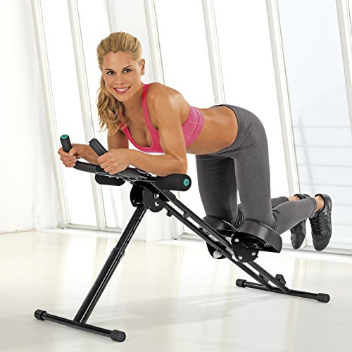 VITALmaxx \'Fitmaxx 5\' entrenador de abdominales plegable | Entrenador de espalda, abdominales, brazos y piernas en uno con ordenador de fitness | Ahorro de espacio