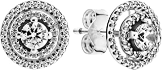 PANDORA Sparkling Double Halo Stud 925 Sterling Silver Earring - 299411C01