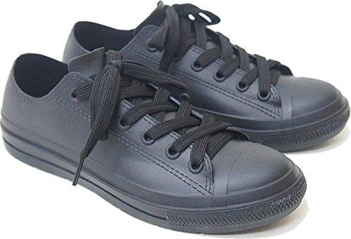 長靴 スリッポン スニーカー レインシューズ レディース ローカット 防水 レインブーツ ngrm040 mzc-011(M(23.5cm) ブラック)