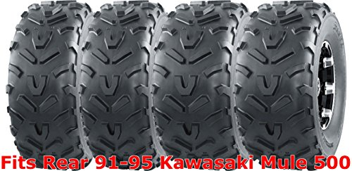 Set 4 WANDA ATV tires 22x9-10 Front & 22x11-10 Rear 91-95 Kawasaki Mule 500