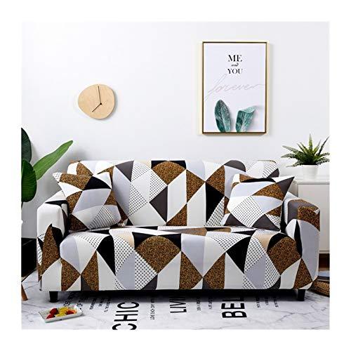 ZHAO Stretch-Plaid-Sofa-Slipcover, elastische Sofaabdeckungen für Wohnzimmer, Sofa-Stuhl Couch Cover Home Decor 1/2 / 3/4-Sitzer (Farbe : Color 21, Specification : 4 Seater 235 300cm)