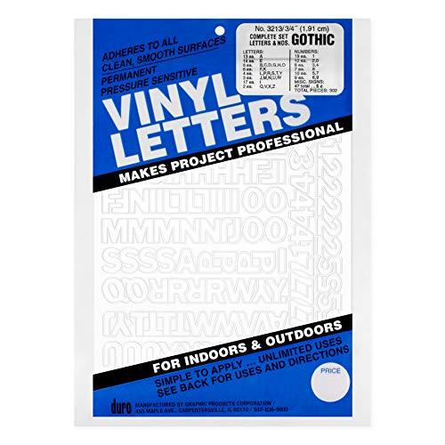 Graphic Products Lettres et Chiffres en Vinyle adhésif Permanent .75 \