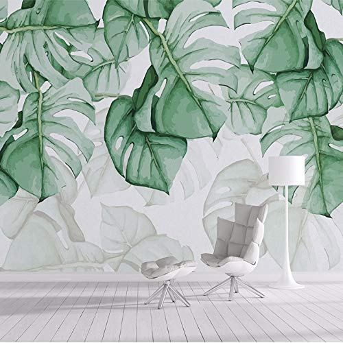 Papel pintado mural imagen 3D Personalizar cualquier tamaño de papel tapiz 3D pintado a mano planta Tropical Fresco Tapety sala de estar dormitorio decoración del hogar Mural impermeable