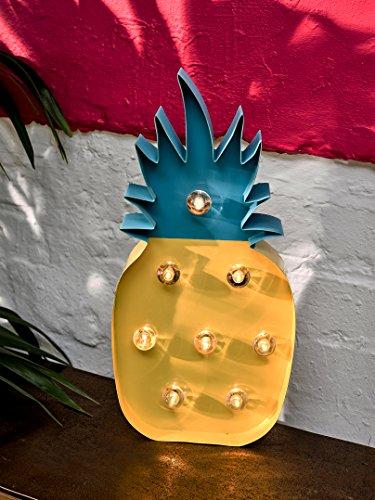 Talking Tables anananas decoratie met lampjes, 25 cm