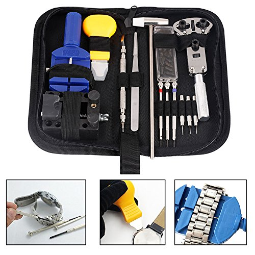 Complete Set Pocket Design Technician Repair Tools Self Fixing for Watches, Clock, Timepiece, Craft Kit etc. Inventor Hobby Accessories Equipment Idea Gift SRP1A3