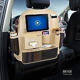 HONCENMAX Organisateur Siège de Voiture - Car Back Seat Organizer Protecteur de Siège Arrière Kick Mats - avec écran Tactile iPad et Plusieurs Poches