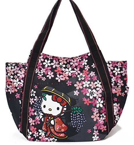 Hello Kitty Limited Japanese Pattern Mothers Bag Tote Bag  KITTY-WG  Sakuran (Japanese Geisya) Japan Import