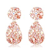 Crystals Rhinestone Teardrop Chandelier Earrings for Women Dangle KELMALL COLLECTION