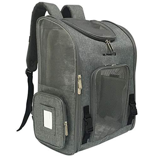 Mr. Peanut's Aspen Series Airline Approved Backpack Pet Carrier (Platinum Gray)