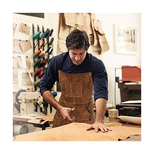 Eletecpro Leather Welding Apron & Gloves 3