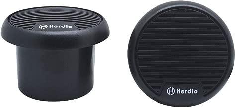 Herdio 3 Inch Waterproof Marine Speakers 2 Way Full Range Audio Stereo System Motorcycle Speaker with MAX Power 140 W (Pair) for Motorcycle,Boat,UTV,ATV,Golf Carts,Powersports,CAR,SPA,Hottub(Black)