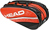 Head Tennistasche Murray Combi 50 Liter, Orange/Schwarz, 30 x 77 x 22 cm, 283192 -