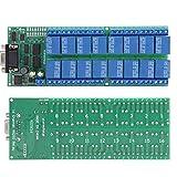 Placa de relé, placa de relé de 16 canales, placa de relé DB9, módulo de relé DB9, interfaz hembra para Arduino, suministros industriales para exteriores, Raspberry Pi