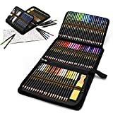 Estuche de lápices de colores para dibujo profesional, Set de 96 piezas Set de Dibujo Artista Kit para libros de colorear o útiles escolares para Artistas, Estudiantes, Niños y Adultos