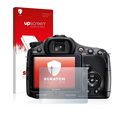 upscreen Schutzfolie kompatibel mit Sony Alpha 57 (SLT-A57) – Kristallklar, Kratzschutz, Anti-Fingerprint