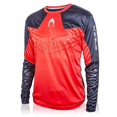 HO Soccer Ikarus Camiseta de Portero Manga Larga, Hombre, Rojo/Negro, L